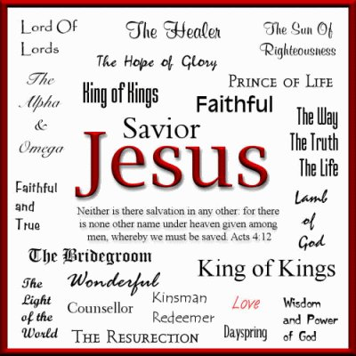 Picture of the names of Yeshua